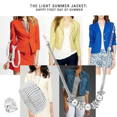 First day of Summer Style: The Light jacket and Simply You Jewelry. See our blog for more fashion: www.simplyyyou.com/blog