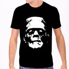 Shops, Dark Fashion, Rock, Frankenstein, Mens Tees, Shirt Style, Black And White, Rebel, T Shirt