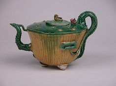 Teapot in Shape of a Lotus Plant Period: Qing dynasty (1644–1911), Kangxi period…