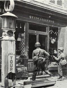 World War II Images — Carentan, 1944. [Source]