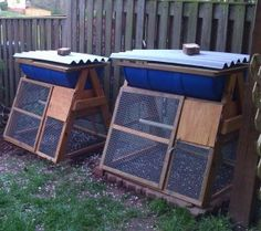 Top Bar Barrel Bee Hive Chicken Coops - may deter mice and moths