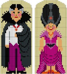 Halloween Count and Countess - The Counted Couple bead pattern