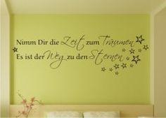 Wandtattoo Sprüche und Zitate - Nimm Dir die Zeit zum Träumen - Es ist der Weg zu den Sternen