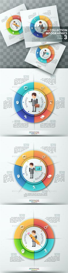 Moderne Infographic Options Circle Template   Infographic ...