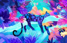 Blue panther by Juliette Oberndorfer