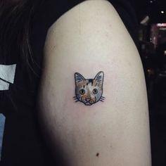 This little face. | 26 Totally Purrr-Fect Cat Tattoos
