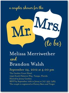 mr. and mrs. invite