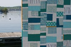 "I love Summersville (fabric); I too dream of Greece; love this quilt by Ashley of Film in the Fridge, ""dreaming of Greece"""