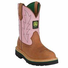 7eb203e0b8190 Johnny Popper Western Boots Girls Kids John Deere Tan Pink for Like the  Johnny Popper Western Boots Girls Kids John Deere Tan Pink Get it at