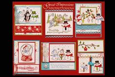 October 2010 DIY Artboard of Cards & Stamps from GreatImpressionsStamps.com