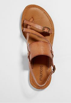 raine strappy sandal with buckles in brown - maurices.com