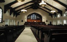 Pews, Pew Cushions, Church Furniture & Chairs -- Restoration Project Gallery -- Church Interiors
