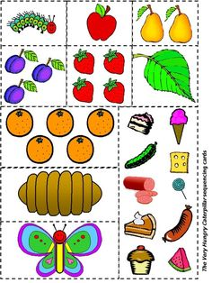 the very hungry caterpillar printables | Very Hungry Caterpillar sequencing printable by robbie