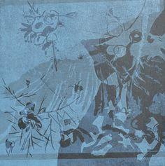 sans titre. Linogravure réalisée par Aimée Yamamoto. Format 20 x 20 cm.