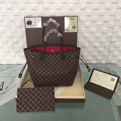 2e0386e19833 Louis Vuitton Damier Ebene Canvas Neverfull MM N41358 White Louis Vuitton  Bag
