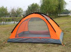 2 Person Outdoor Camping Tent - This 2 person outdoor camping tent is a 4 season tent. It comes with a snow skirt, aluminum rod tent poles. It is lightweight and portable weighing in at about kgs and can be packed in a portable bag.