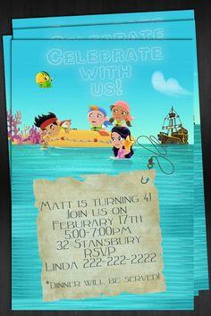 jake and neverland pirate invites
