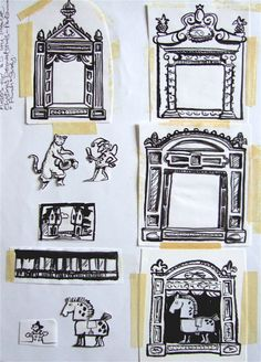 long lost artwork for toy-theatres | Clive Hicks-Jenkins' Artlog: