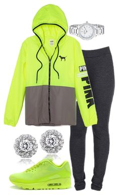 """""""Untitled #52"""" by jadechanteon ❤ liked on Polyvore featuring NIKE, Icz Stonez and FOSSIL"""