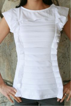 DIY Anthropologie squeezebox top, T-Shirt Restyle