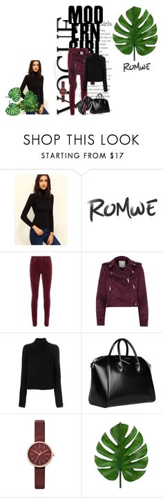 """""""Untitled"""" by aura-aureta ❤ liked on Polyvore featuring AG Adriano Goldschmied, River Island, Calvin Klein 205W39NYC, Givenchy and Skagen"""