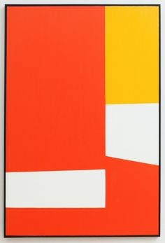 Clare E. Rojas, Red/Orange/Yellow, 2012 Oil on Linen.