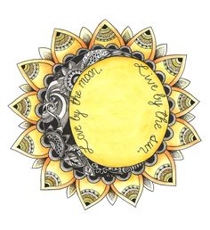 Zentangle with Colour~ Future Tattoos, New Tattoos, Cool Tattoos, Tatoos, Symbole Tattoo, My Sun And Stars, Sun Moon, Piercing Tattoo, Skin Art