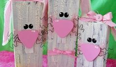 4x4 wooden blocks crafts   set of cute bunnies diy wood, 2x4 crafts, bunny easter, holiday ...