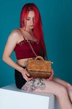 Clutch Bag, Tote Bag, Unique Bags, Wooden Gifts, Anniversary, Handle, Artists, Beige, Handbags