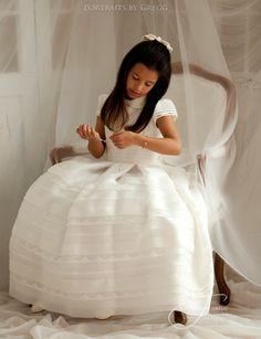 www.portraitsbygregg.com Girls Dresses, Flower Girl Dresses, First Communion, What To Wear, Portrait, Wedding Dresses, Children, Beautiful, Color