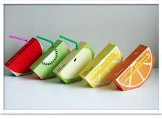 Trozos de fruta bebibles