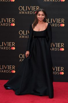 Antonia Thomas Photos - Antonia Thomas attends The Olivier Awards 2019 with MasterCard at the Royal Albert Hall on April 07, 2019 in London, England. - The Olivier Awards 2019 With MasterCard - Red Carpet Arrivals Antonia Thomas, Royal Albert Hall, Good Doctor, London England, Dress Black, Red Carpet, Awards, Celebs, Photos