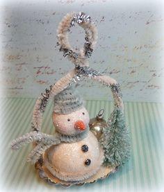 Vintage Style Chenille Snowman Baking Mold by CatandFiddlefolk, $26.95 Christmas Booth, Christmas Love, A Christmas Story, Christmas Snowman, Vintage Christmas, Christmas Bulbs, Christmas Decorations, Christmas Ideas, Xmas