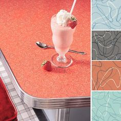 Formica in wonderful retro Boomerang design. discontinued the line a few years ago. Tile Counters, Cheap Countertops, Formica Countertops, Paint Formica, Formica Table, 50s Kitchen, Vintage Kitchen, Kitchen Ideas, Basement Kitchen