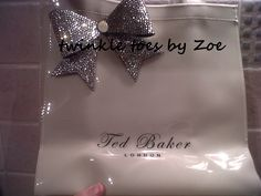 e6371b1076af21 Swarovski encrusted Ted Baker bag - matching the toe post shoes