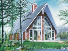 Eplans+A-Frame+House+Plan+-+Casual+Vacation+Home+with+Stellar+Window+Views+-+1304+Square+Feet+and+2+Bedrooms+from+Eplans+-+House+Plan+Code+HWEPL13773
