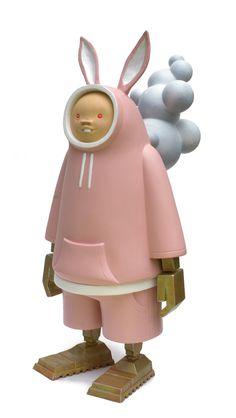bambunny by Ashley Wood Toy Art, Vinyl Toys, Vinyl Art, Weird Toys, Ashley Wood, Character Modeling, Custom Vinyl, Designer Toys, Cute Characters