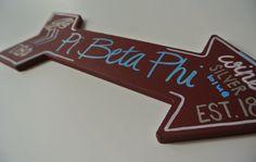Pi Beta Phi Decorative Arrow in Wine Blue Silver by nicolehragyil @pibetaphi