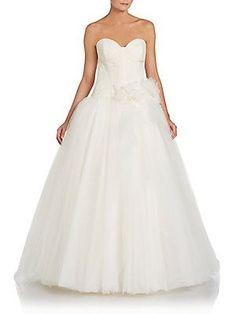 Embellished Satin Bridal Gown - SaksOff5th