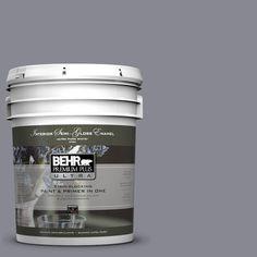 BEHR Premium Plus Ultra 5-gal. #PPU16-15 Gray Heather Semi-Gloss Enamel Interior Paint