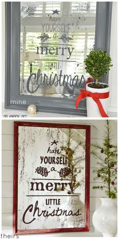 Pottery Barn Christmas Mirror Knock-Off Project! -- Tatertots and Jello