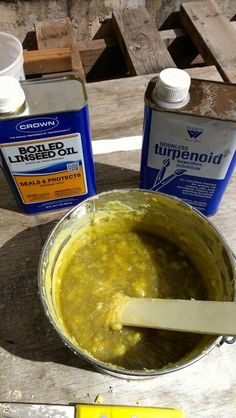 100 year old recipe I found on youtube: A pound of beeswax, cut up to speed melting. Then take it off the flame and add 8oz of boiled linseed oil and 8oz of turpentine. Stir continuously. As it becomes a paste scoop in to a sealable container. For use on canvas, leather, wood and metal. Waterproofs and protects.