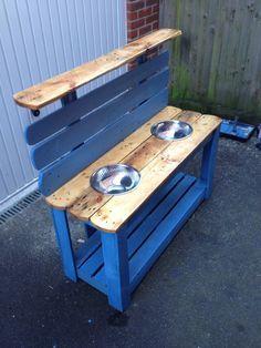 Children's wooden pallet mud kitchen