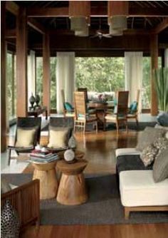 House Interior Design Ideas - Inspiring Interior Design Concepts for Living Space Design, Room Style, Kitchen Area Style and the entire residence. Home Interior Design, Interior And Exterior, Kitchen Interior, Natural Modern Interior, Balinese Interior, Balinese Decor, Resort Interior, Deco Studio, Tropical Interior