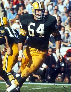 Jerry Kramer, Guard – Green Bay Packers (1958 – 1968) | #64. When I was a youngster, DX gas stations had some sort of special on Packer jerseys. I wound up with a #64 Jerry Kramer jersey.