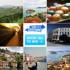 You could win a #TripOfALifetime to Italy and Croatia! Enter daily: http://oak.ctx.ly/r/293e