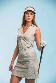 Loving this Daily Sports Tess Lace Golf Skort and Twist Polo for fall - #golf4her.com