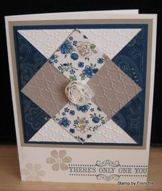 Diamond Quilted Card by France Martin - Cards and Paper Crafts at Splitcoaststampers