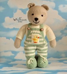 Knitted teddy bear Handmade unique toy the perfect gift for | Etsy