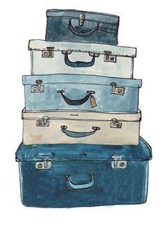 Vintage Suitcase Illustration